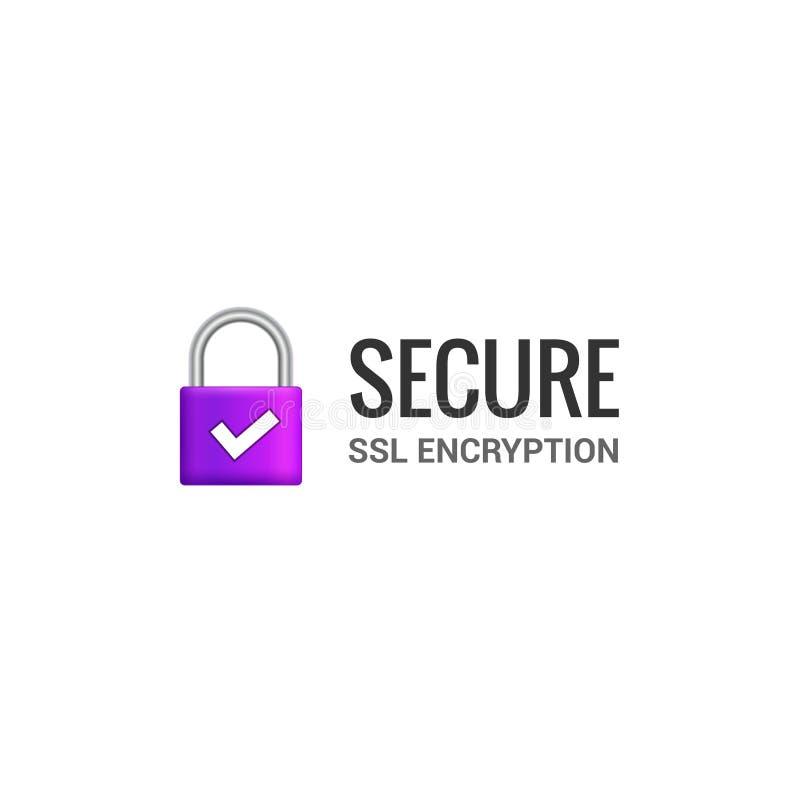 Asegure el icono de la conexión a internet SSL Acceso asegurado aislado de la cerradura al diseño del ejemplo de Internet Guardia ilustración del vector