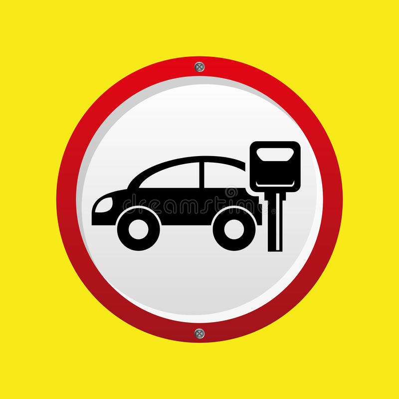 Asekuracyjna samochodu klucza ochrony grafika ilustracja wektor