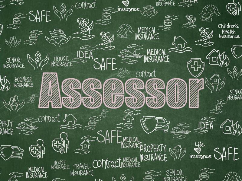 Asekuracyjny pojęcie: Asesor na zarządu szkoły tle royalty ilustracja