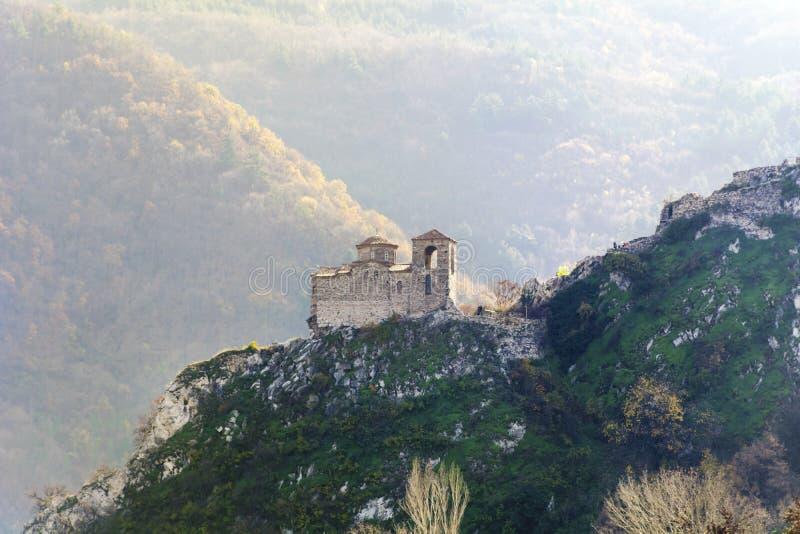 Asen forteca w Asenovgrad, Bułgaria obraz royalty free