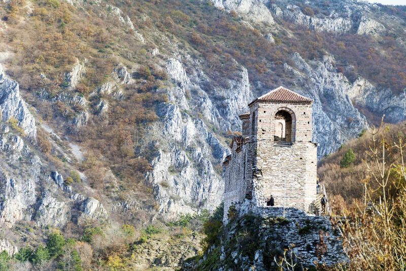 Asen forteca w Asenovgrad, Bułgaria fotografia stock