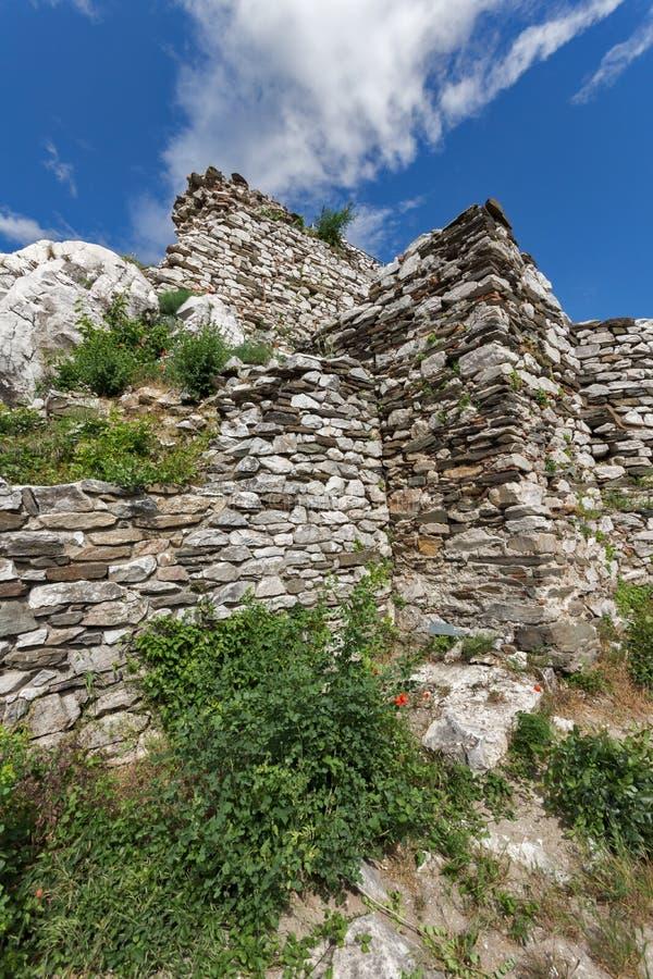 Asen ` s堡垒,阿塞诺夫格勒,保加利亚的中世纪设防 库存照片