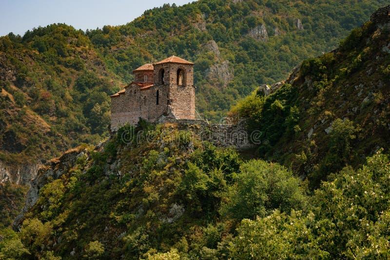 Asenova forteca, Asenovgrad miasteczko, Bułgaria zdjęcie stock