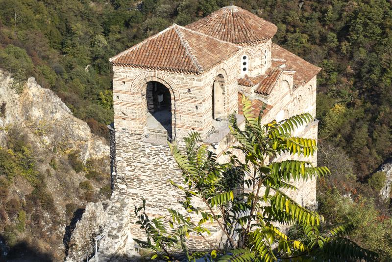 Ruins of medieval Asen Fortress, Asenovgrad, Bulgaria. ASENOVGRAD, BULGARIA -OCTOBER 16, 2019: Ruins of medieval Asen Fortress, Asenovgrad, Plovdiv Region royalty free stock image