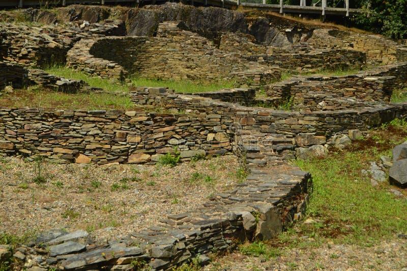 Asentamient Brązowy wiek Ja był handlowym portem w Romańskiej erze, nazwany Castro Castros W Taramundi, Asturias, zdrój zdjęcia stock