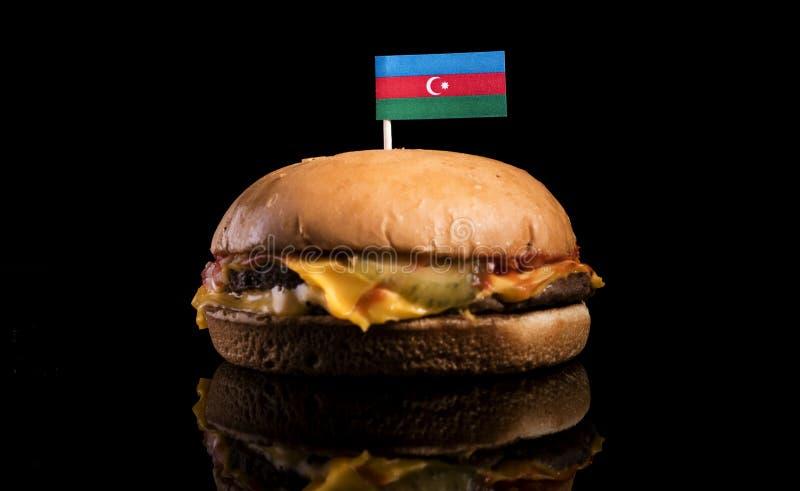 Download Aserbaidschan-Flagge Auf Den Hamburger Lokalisiert Auf Schwarzem Stockbild - Bild von essen, cheeseburger: 96932675