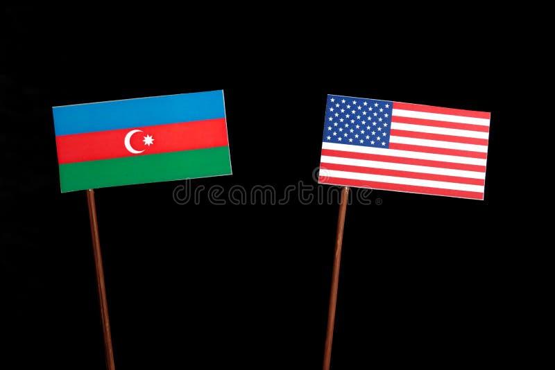 Download Aserbaidschan-Flagge Mit USA-Flagge Lokalisiert Auf Schwarzem Stockbild - Bild von konkurrenz, niemand: 96932573