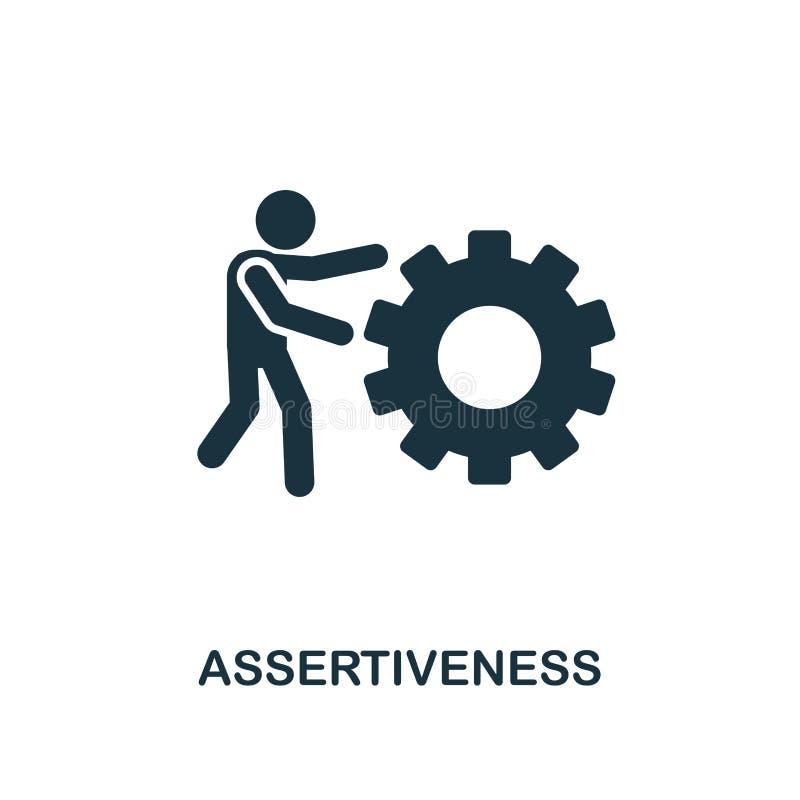 Asertywność kreatywnie ikona Prosta element ilustracja Asertywnościa pojęcia symbolu projekt od miękkich umiejętności inkasowych  royalty ilustracja