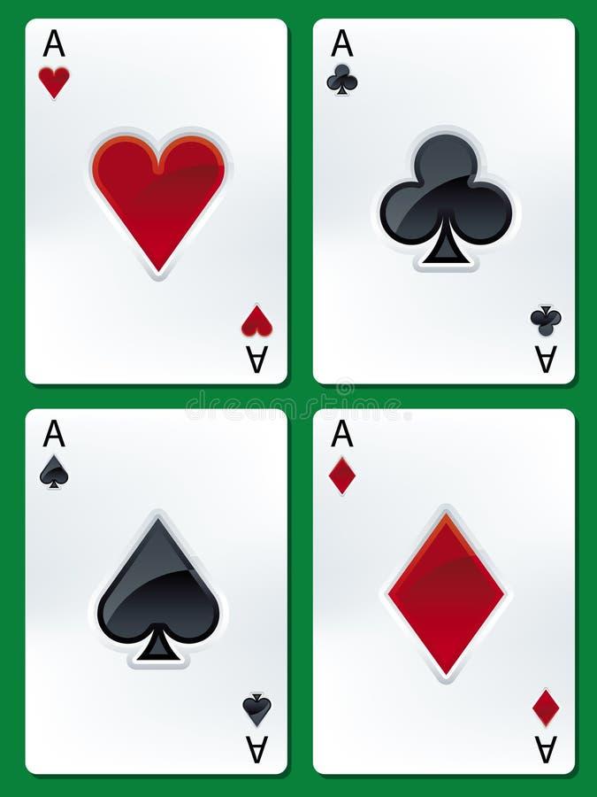 ases pokera. royalty ilustracja