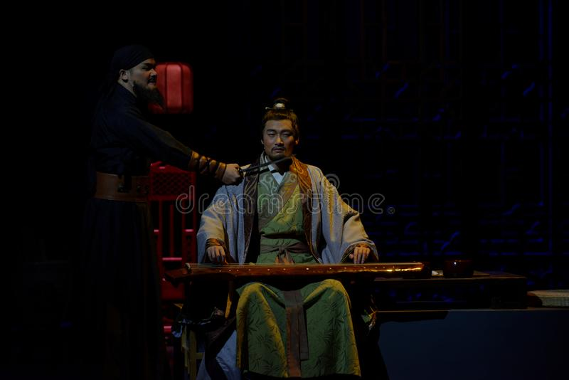 Asesine el acto de Wang Yangming 1-The en segundo lugar: la noche del drama histórico ejército-grande, ` Yangming ` de tres noche fotografía de archivo libre de regalías