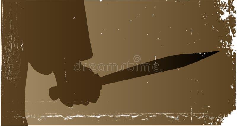 Asesino del cuchillo ilustración del vector