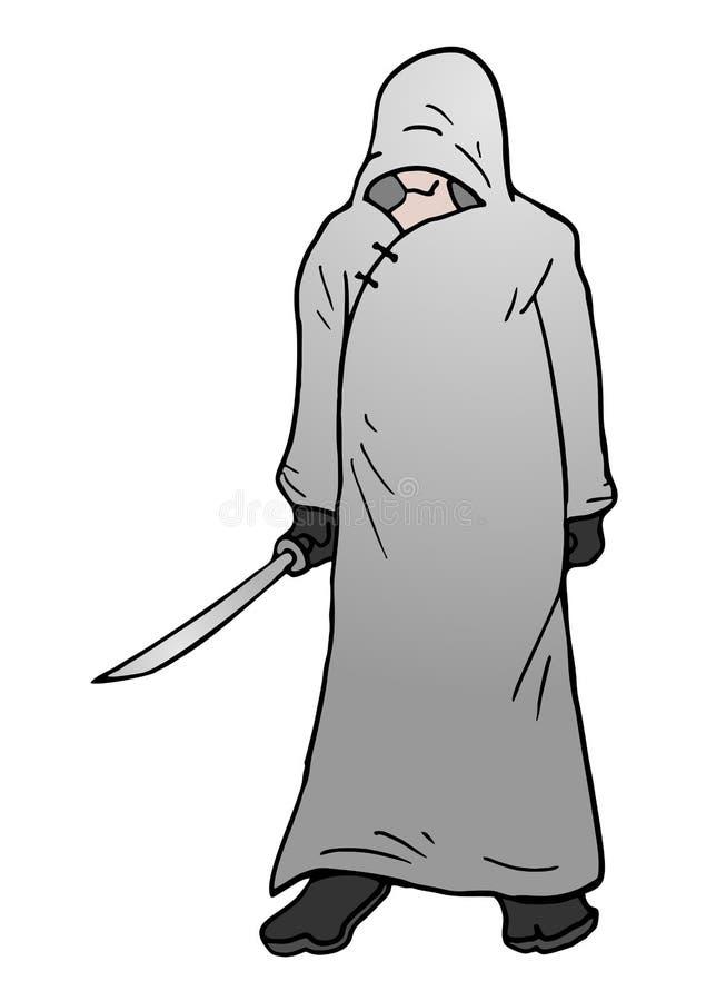 Asesino del misterio stock de ilustración