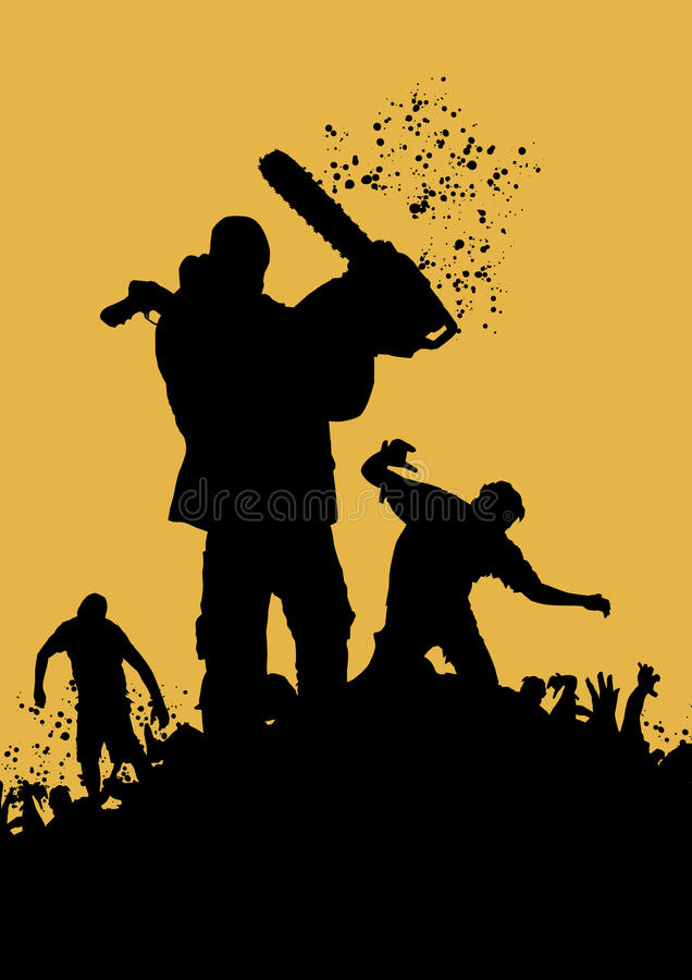 Asesino 4 del zombi stock de ilustración