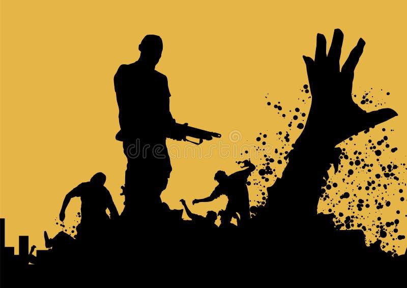 Asesino 6 del zombi stock de ilustración
