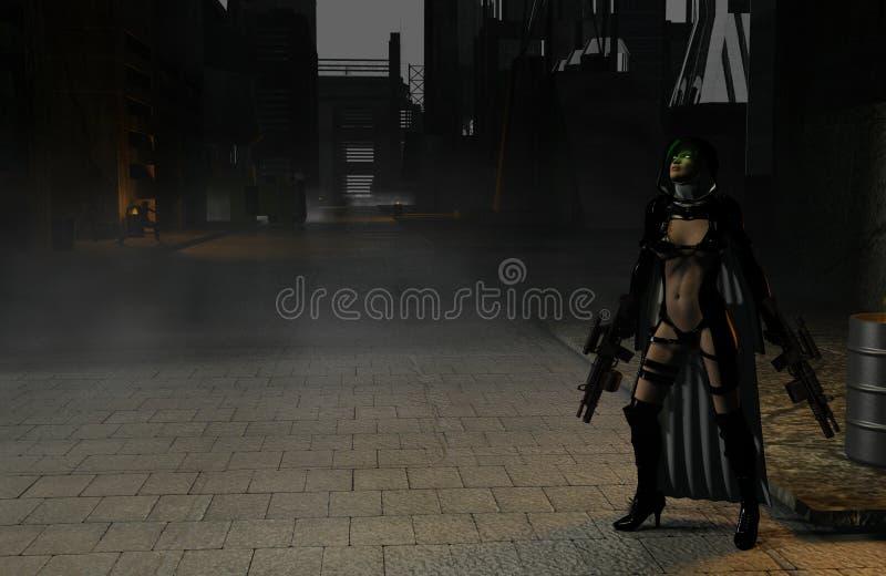 Asesino del zombi ilustración del vector