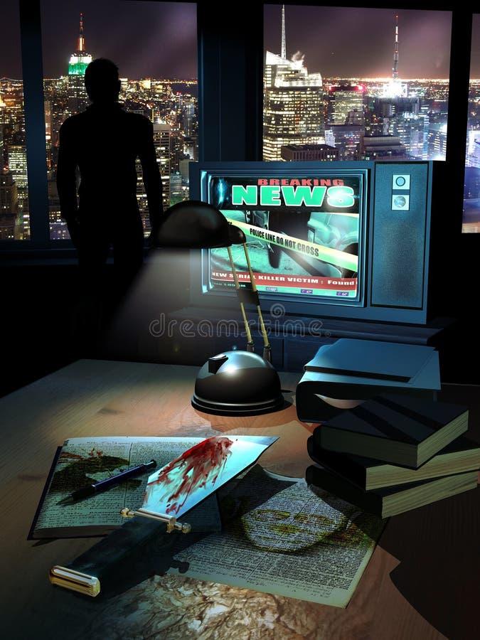 Asesino en serie ilustración del vector