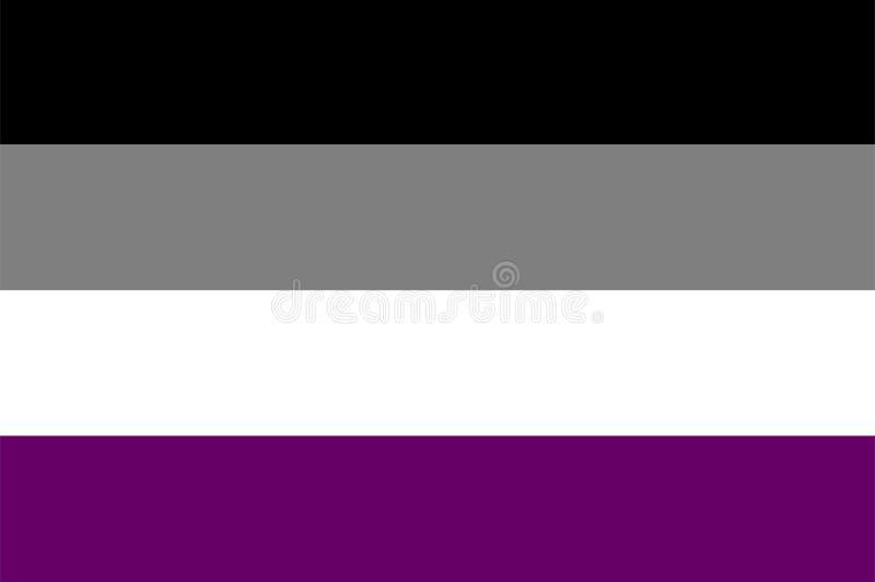 Asexuell flagga för vektor vektor illustrationer