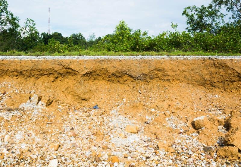 asfalt pod warstwy drogi ziemią zdjęcie royalty free