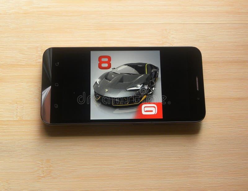Asfalt 8: Powietrzny app obrazy stock