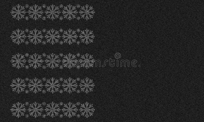 Asfaltachtergrond met sneeuwvlokken royalty-vrije illustratie