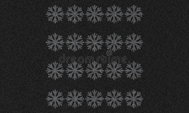 Asfaltachtergrond met sneeuwvlokken vector illustratie