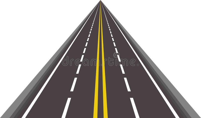 asfalterad rak vektor för väg vektor illustrationer