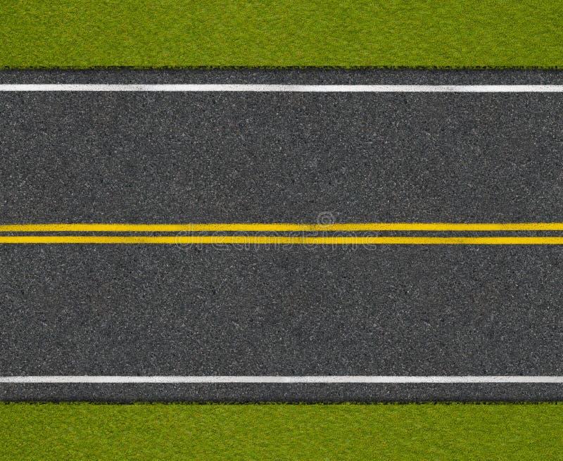 Asfalthuvudvägväg med bästa sikt för vägren royaltyfria foton