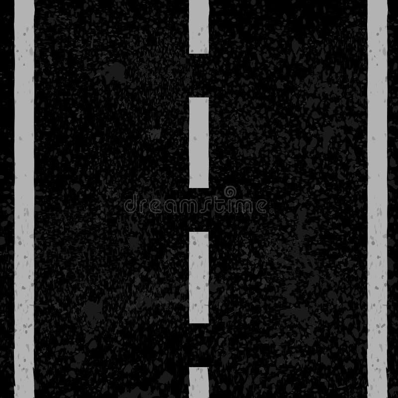 Asfalto con las líneas blancas stock de ilustración