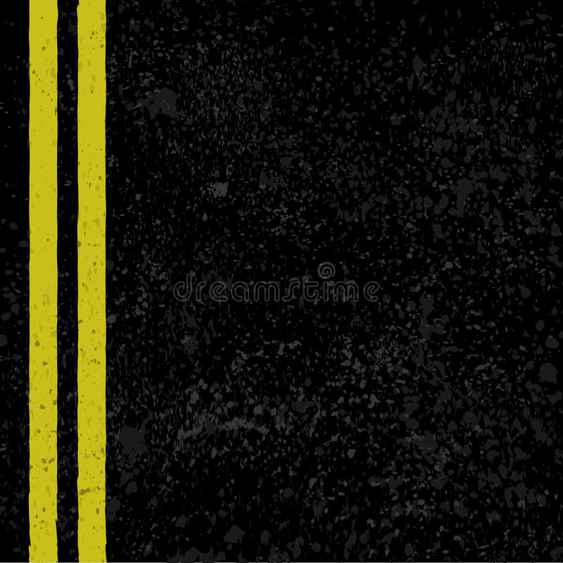 Asfalto con las líneas del camino ilustración del vector