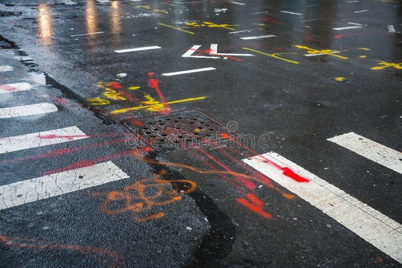 Asfalto in Manhattan, New York immagine stock libera da diritti