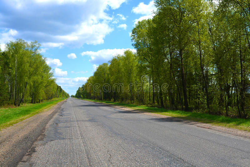 Asfalto moído na estrada fotografia de stock