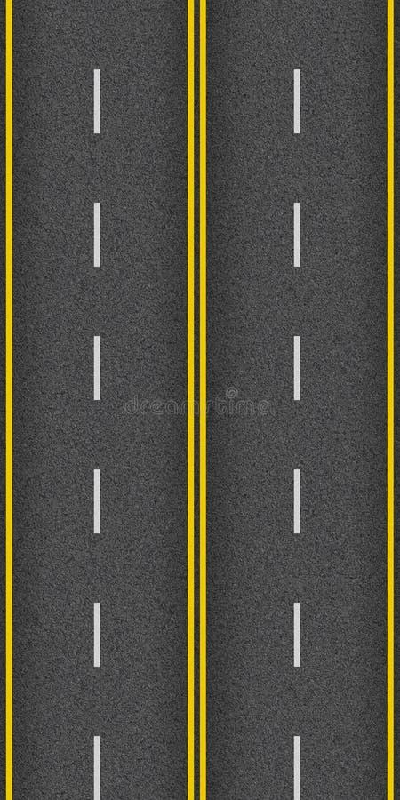Asfalto senza cuciture della strada principale di struttura illustrazione vettoriale