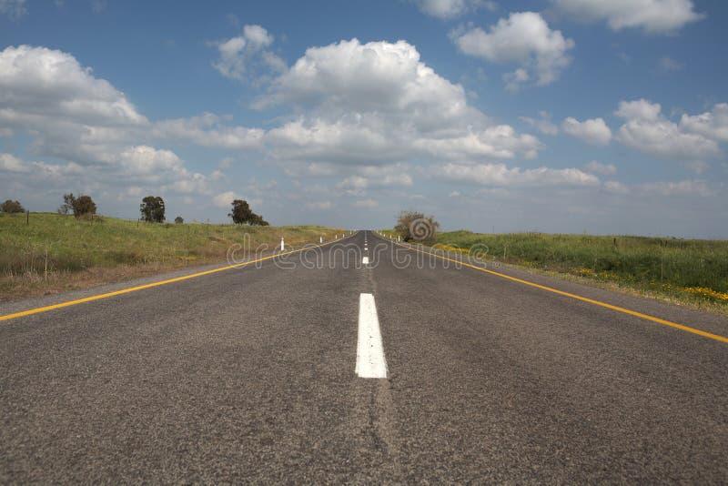 asfaltowa bezpośrednia droga fotografia stock