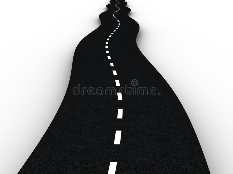 asfaltowa droga ilustracji
