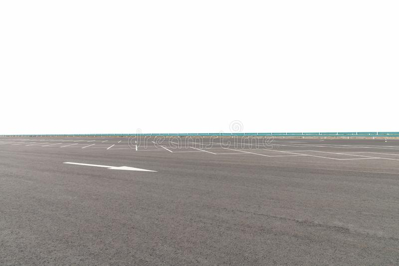 Asfaltowa drogowa powierzchnia na parking blisko autostrady obrazy royalty free