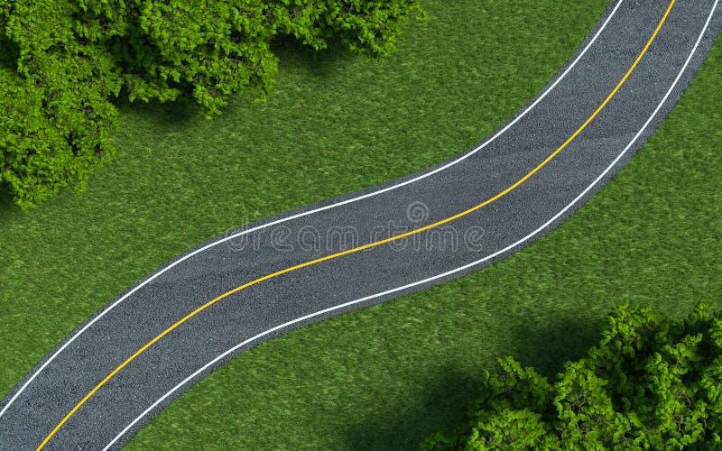 Asfaltowej drogi tekstury, koloru żółtego i białej linia na drodze, ilustracji