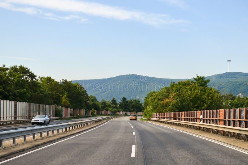 Asfaltowej drogi wsi asfalt obraz stock