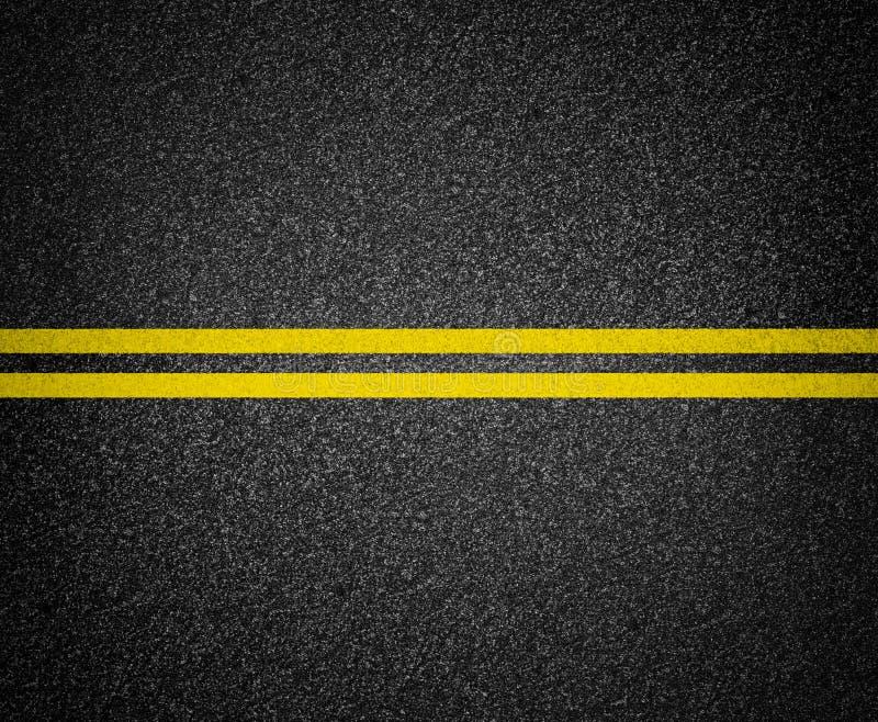Asfaltowy drogowego ocechowania odgórny widok obrazy royalty free