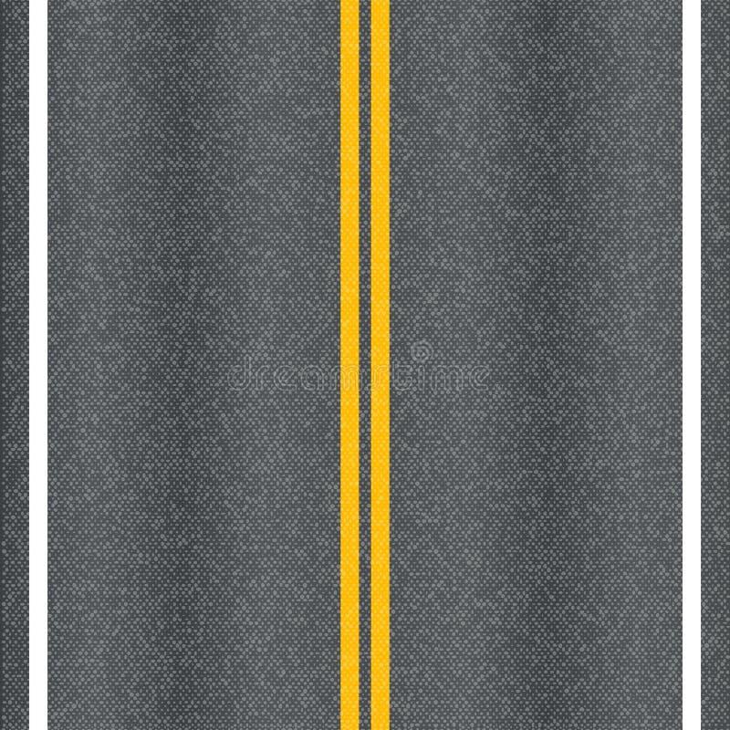 Asfaltvägen texturerar stock illustrationer