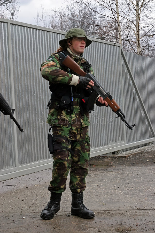 ASG Airsoft soldier with gun