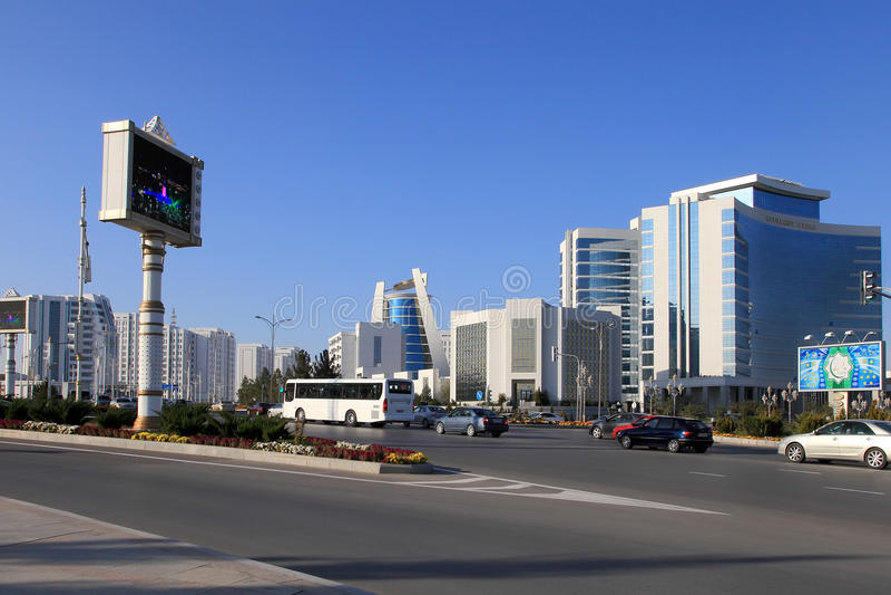 Asgabat, il Turkmenistan - 15 ottobre 2014: Architettura moderna o immagine stock libera da diritti