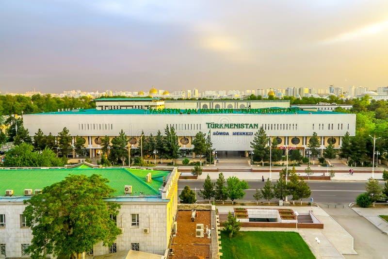 Asgabat il Turkmenistan Sowda Merkezi immagine stock libera da diritti