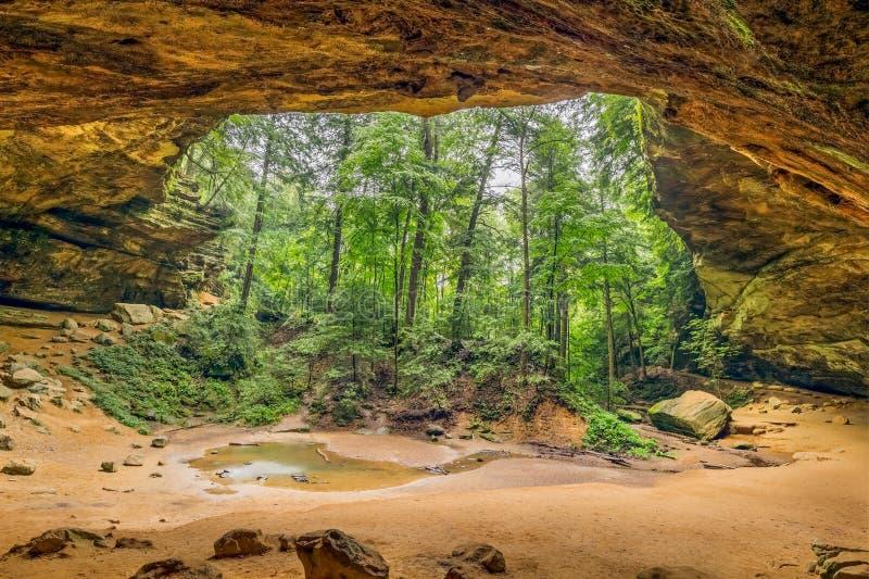 Ash Cave foto de archivo