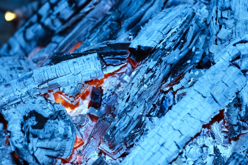 Ash and fire stock images