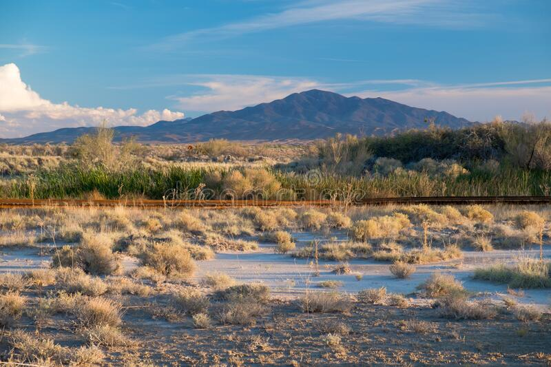 Ash Meadows National Wildlife Refuge View. View across the boardwalk at Ash Meadows National Wildlife Refuge, Nye County, Nevada, USA royalty free stock photo