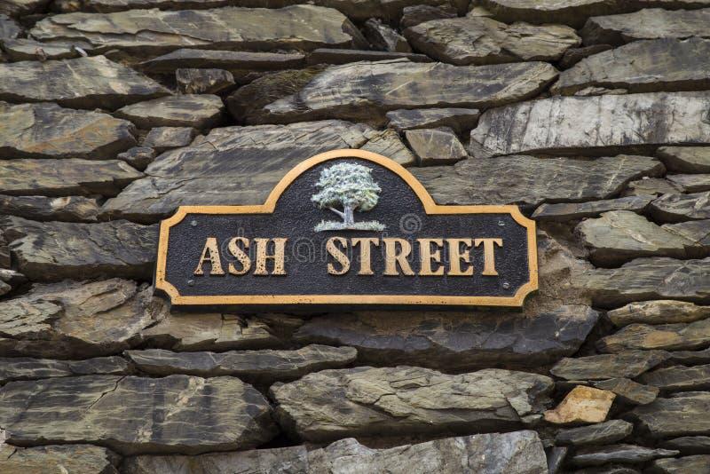 Ash Street em Bowness em Windermere imagens de stock