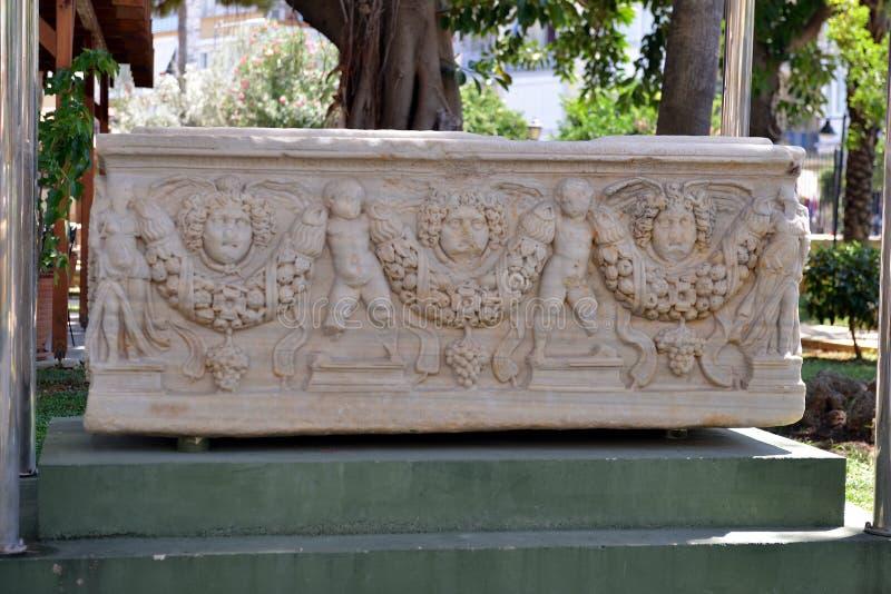 Ash Urn i det Alanya museet, Turkiet arkivbilder