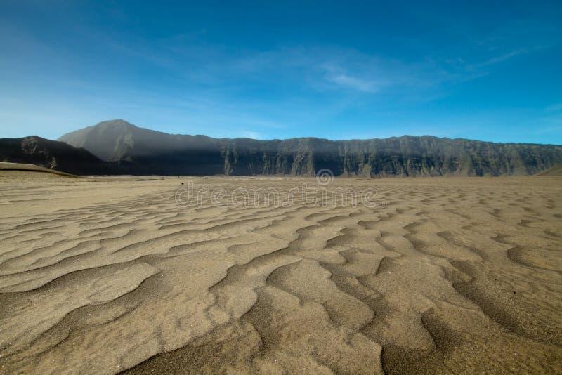 Ash volcano of mountain bromo. Ash eruption of vlocano at bromo indonesia stock photography