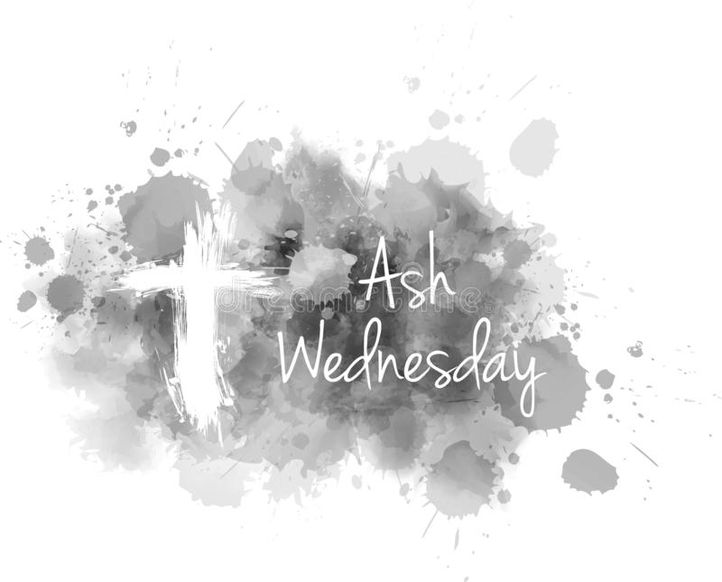 Ash Wednedsay bacground stock illustratie