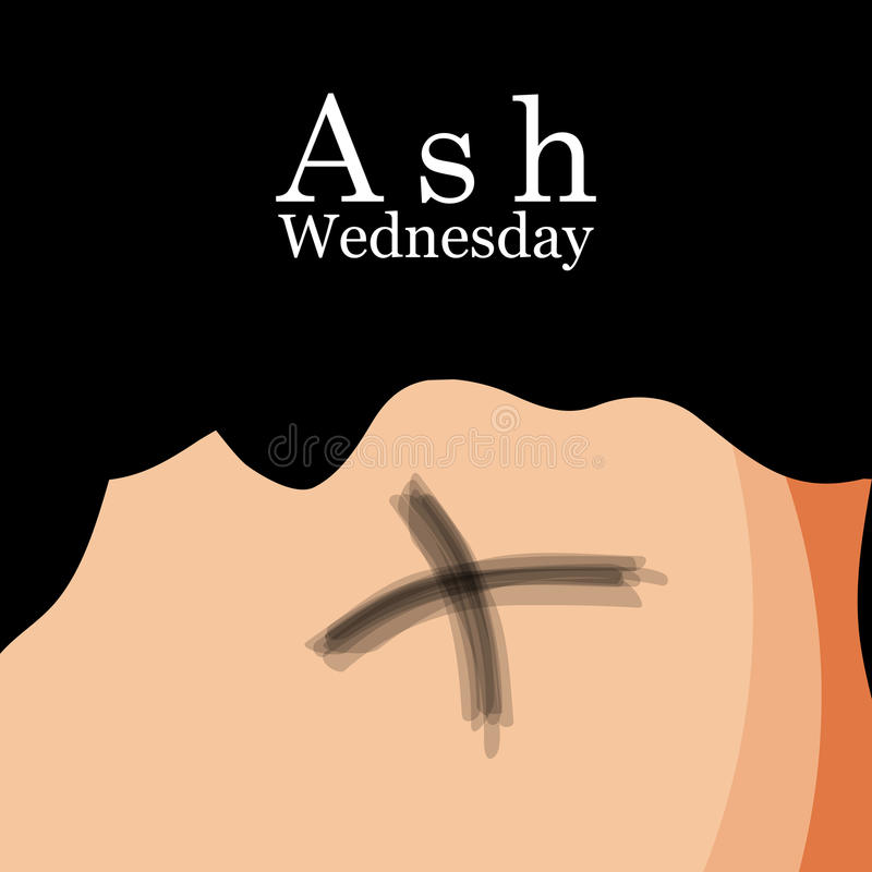 Ash Wednesday Background royalty-vrije illustratie